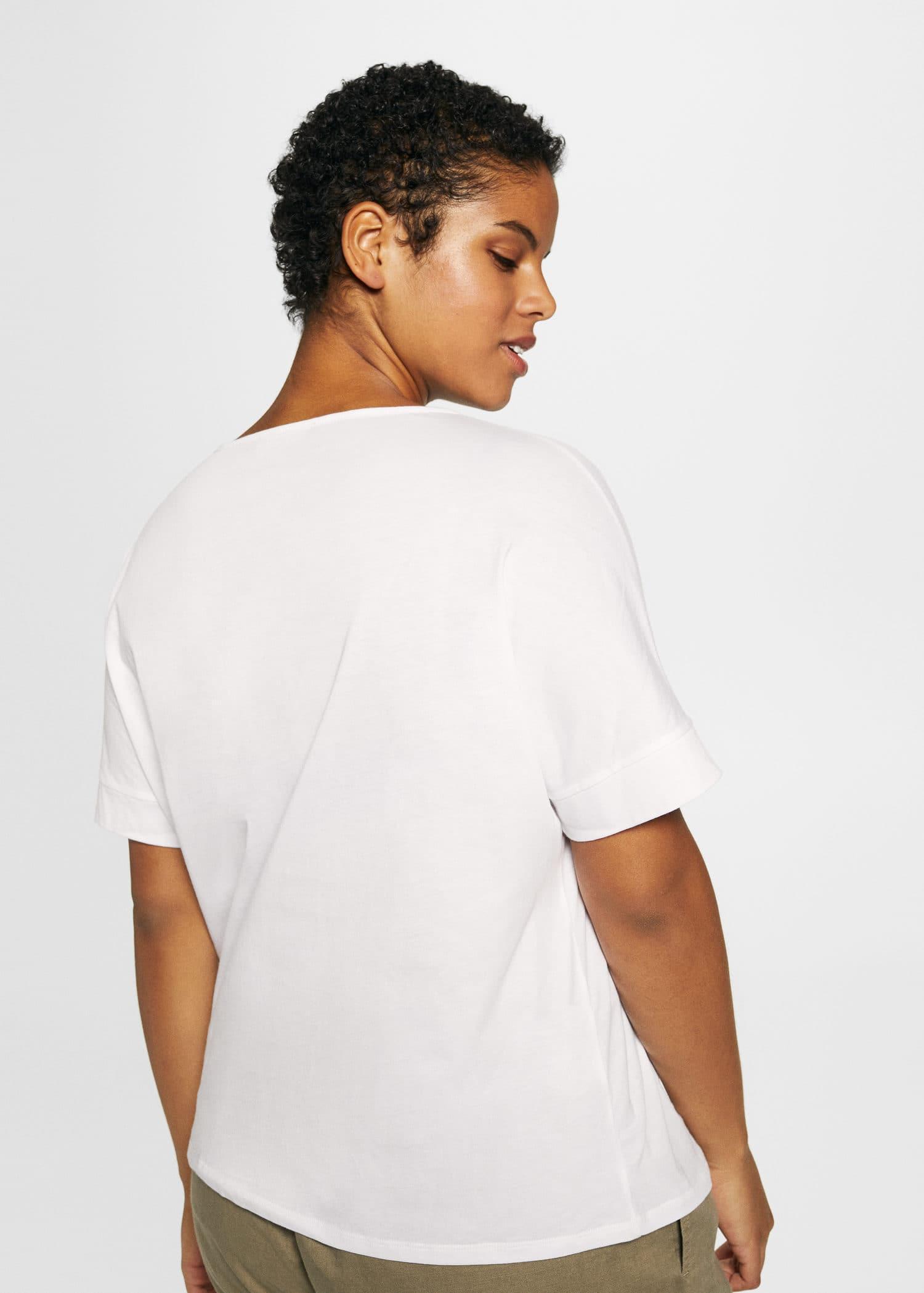MANGO Appliqués embroidered t-shirt Free Shipping Low Cost 4vbkDJ3Q20