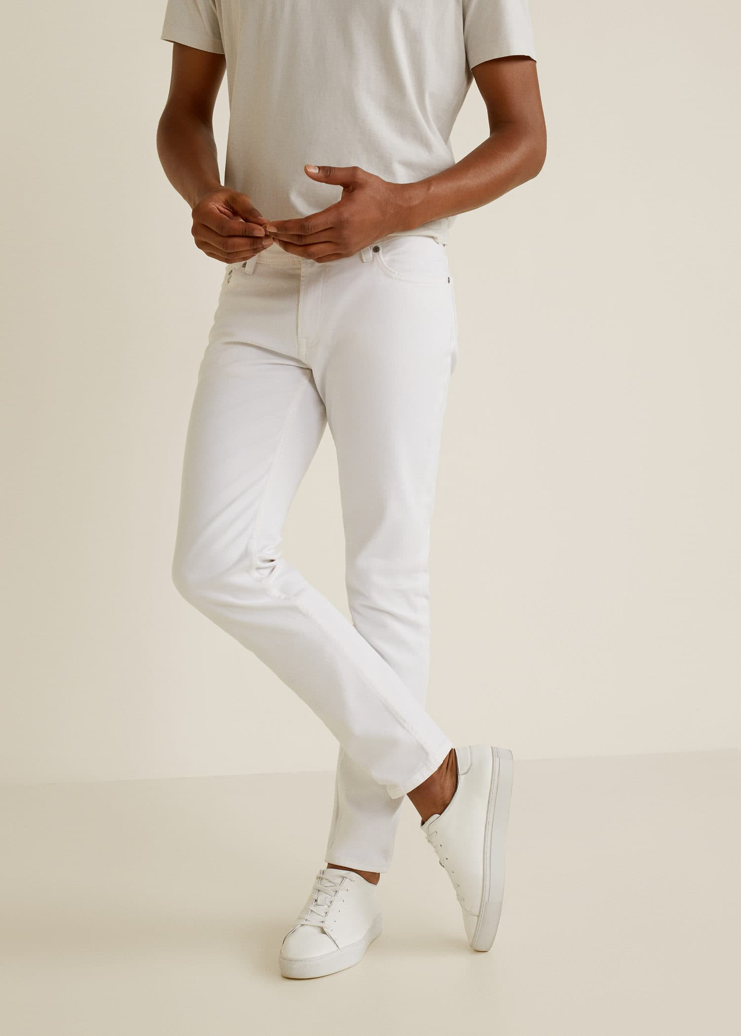 Jeans jan slim fit blancos Hombre | Pantalón blanco
