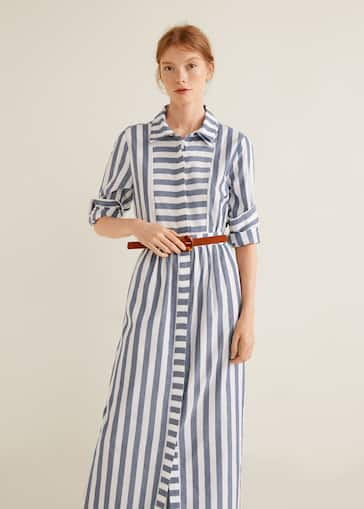 c5cbab1c14 Striped shirt dress - Woman