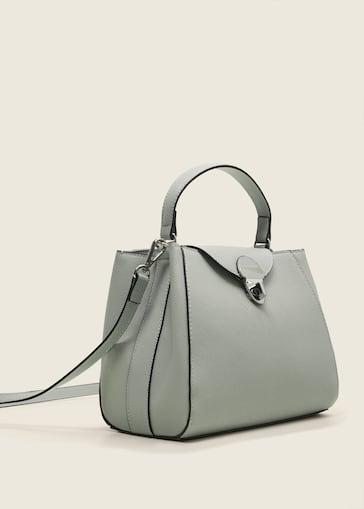 Mini sac shopper saffiano - Femme   MANGO Maurice 89892e4c9f43