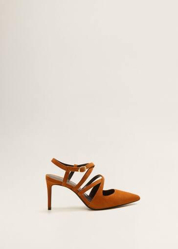 4d7df149d43b Strap leather shoes - Women | Mango USA