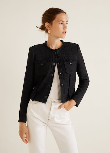 3d8eb5a4 Tweed jacket - Women | Mango United Kingdom