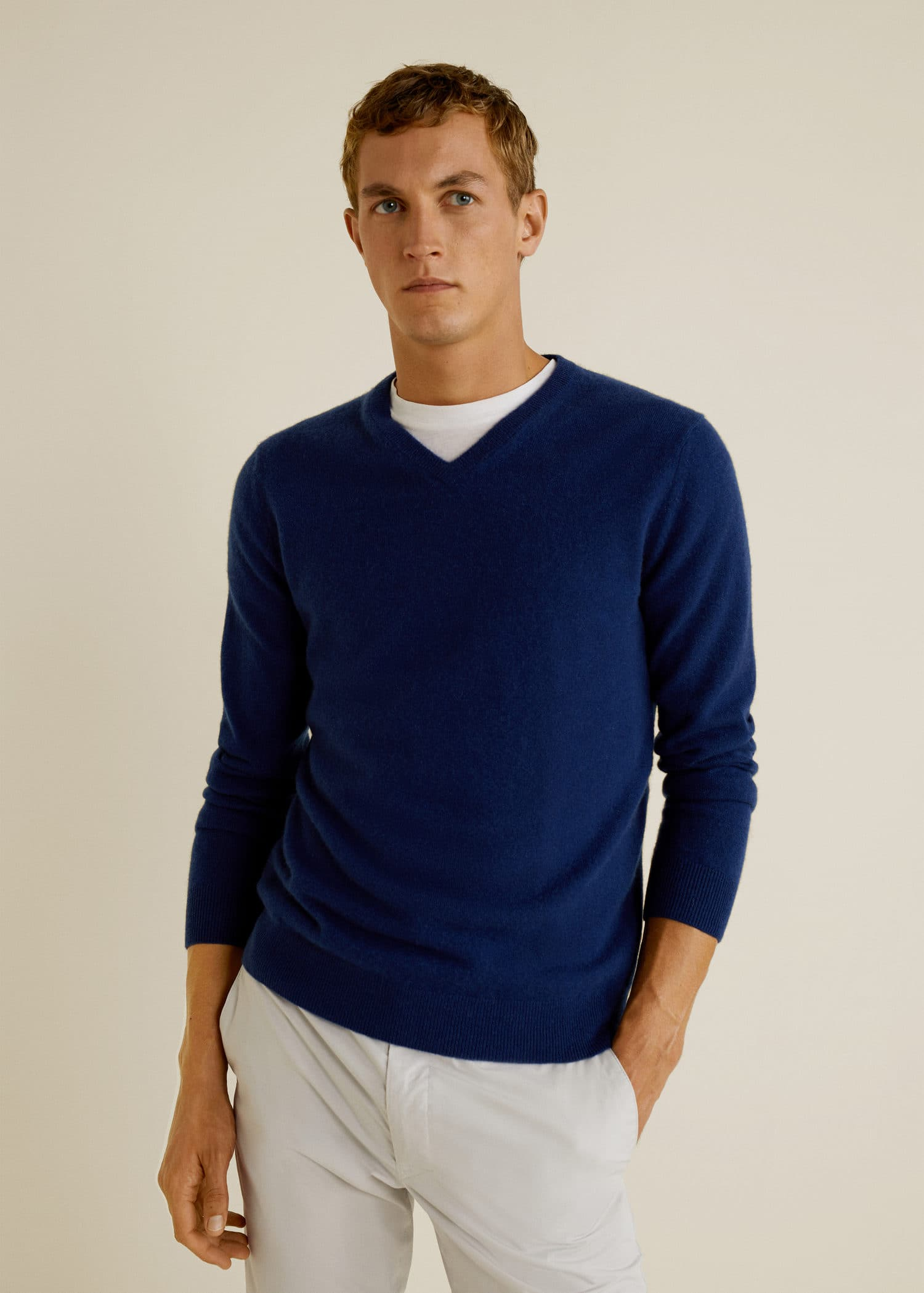 100 Cashmere Sweater Men Mango Man Usa