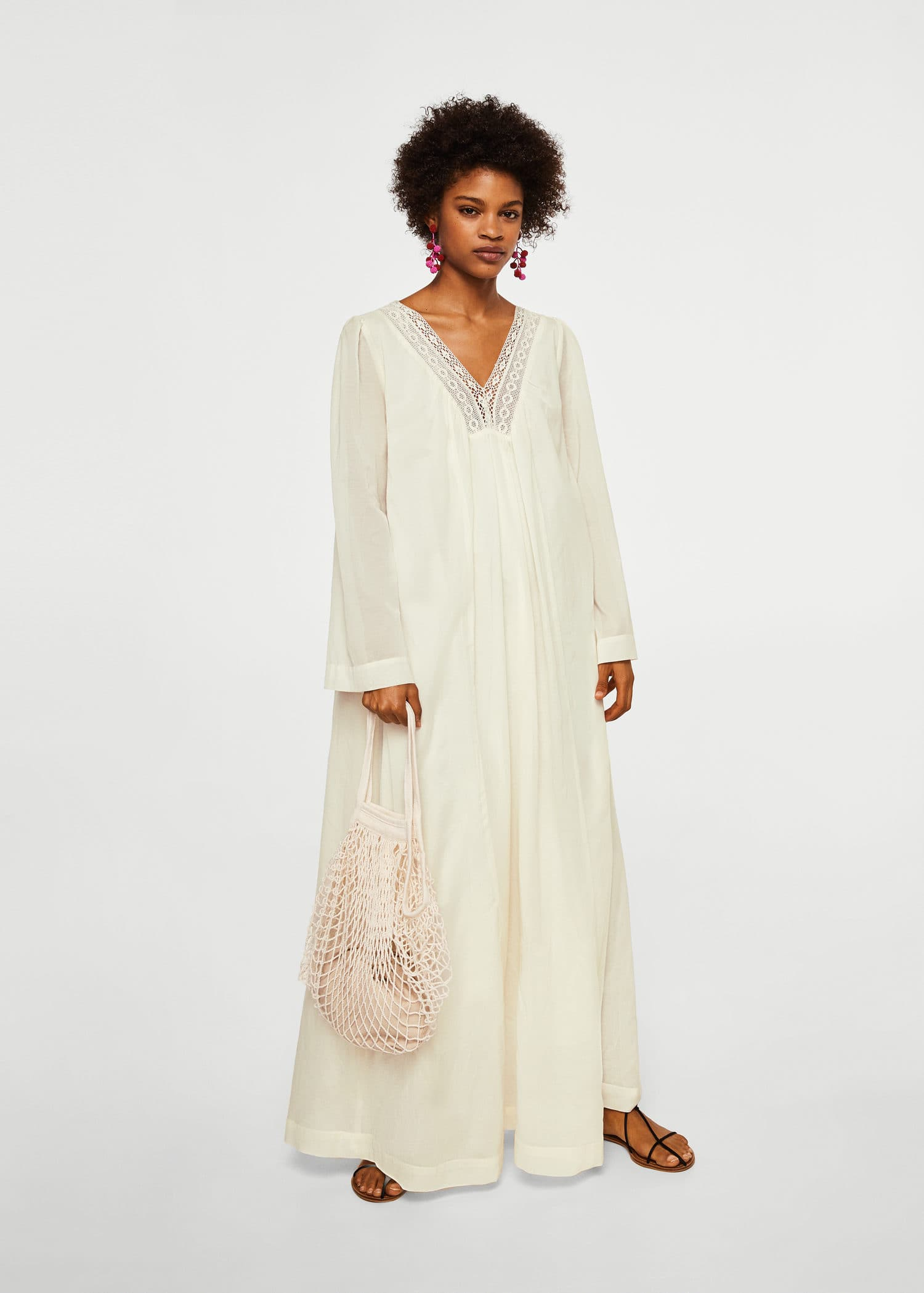 Coton Femme Ajourée Robe Mango France 5RxHYPqwn bc19726d935