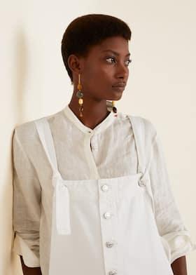24f790a7e78 White denim pinafore dress - Women