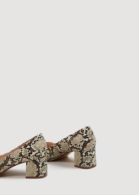 d730af17255 Snakeskin print heeled shoes