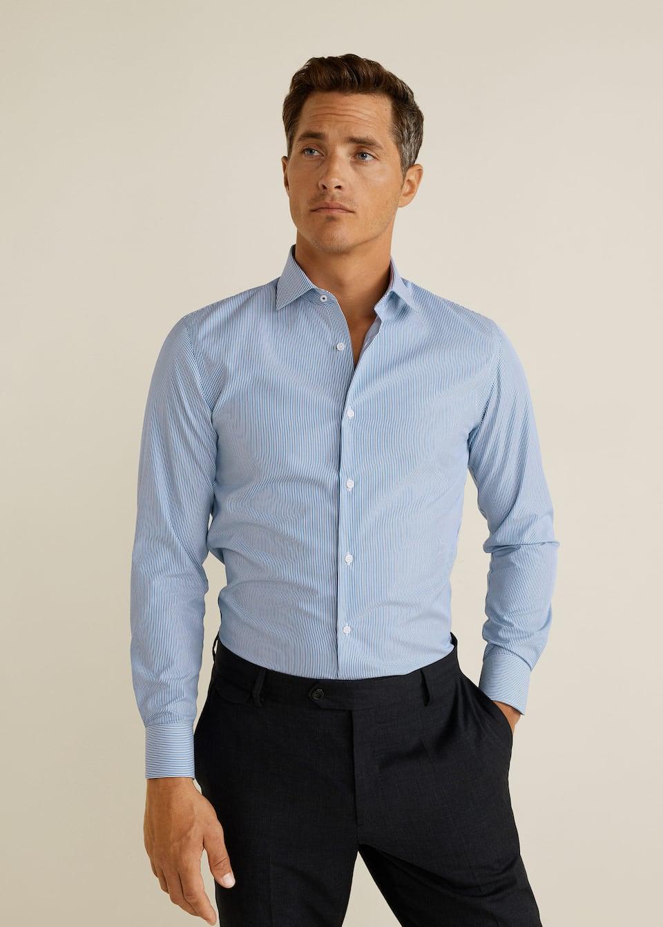 slim fit skjorta