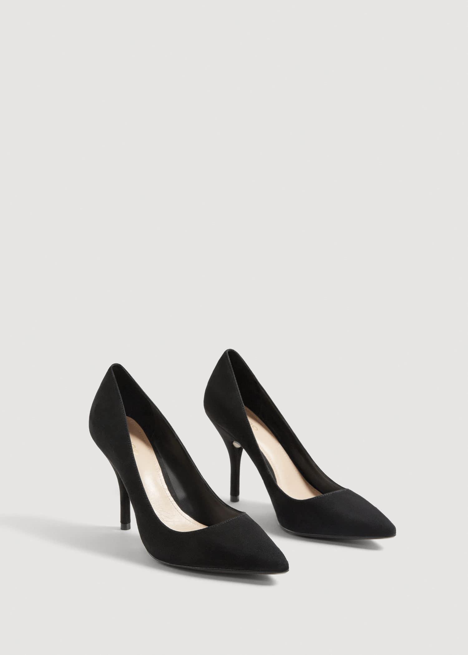 Sapato salão camurça Mulher | Mango Portugal