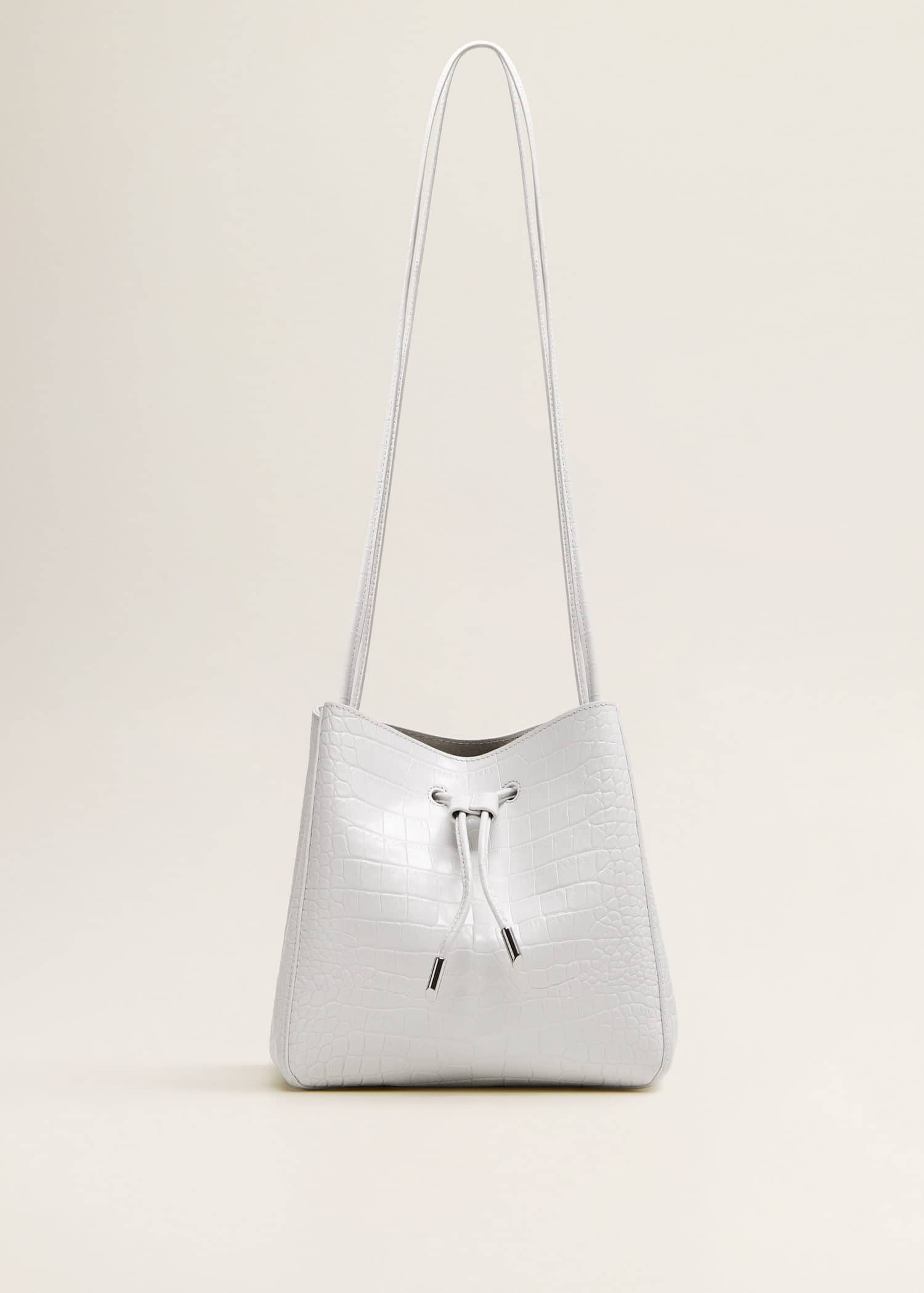 Leather bucket bag Woman | Mango Estonia