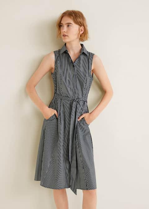 Φόρεμα πουκαμίσα ριγέ