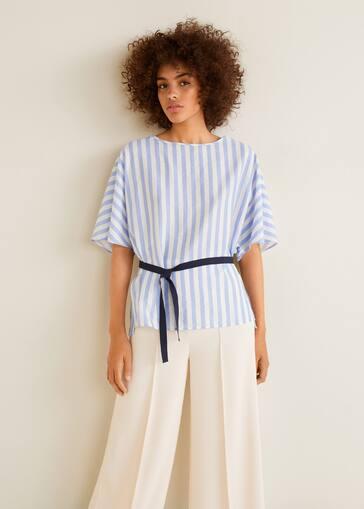 5271466b56 Striped bow blouse - Women