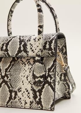 2ffadc9db54 Snakeskin effect bag - Woman | Mango Canada