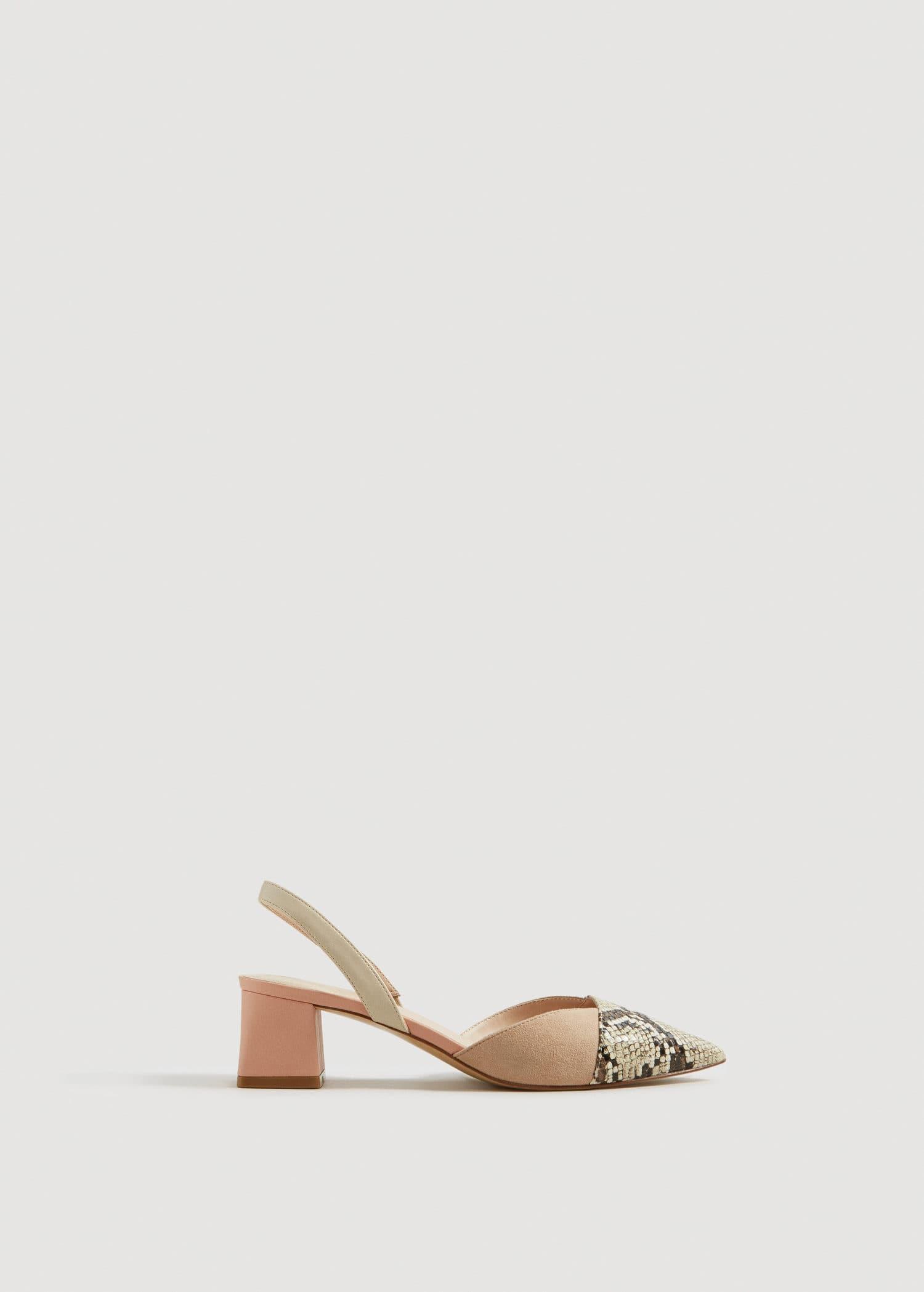 6a28c59ca67b4b Femme À Côte Mango L'arrière D'ivoire Chaussures Ouvertes Combinées xqn7HEI