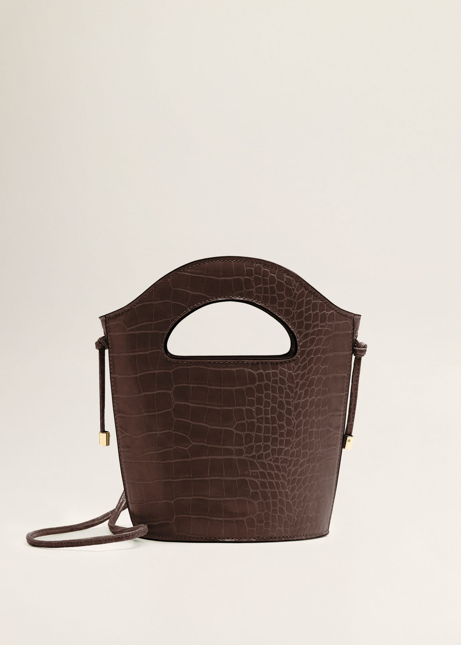 Croc-effect tote bag - Woman | Mango China