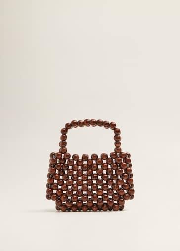 a83a40d843b Beaded wood handbag