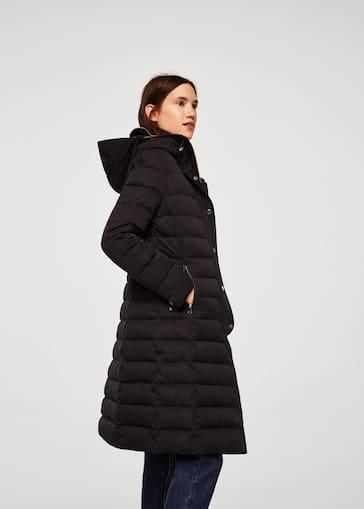 2019 profesional calidad de marca tienda de liquidación Quilted feather coat