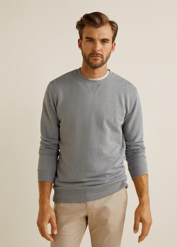 283d1498ba9a Basic cotton sweater - Man