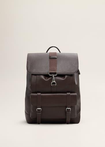 Pockets Pebbled Backpack