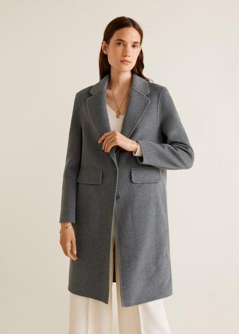 Ολόμαλλο παλτό με γιακά