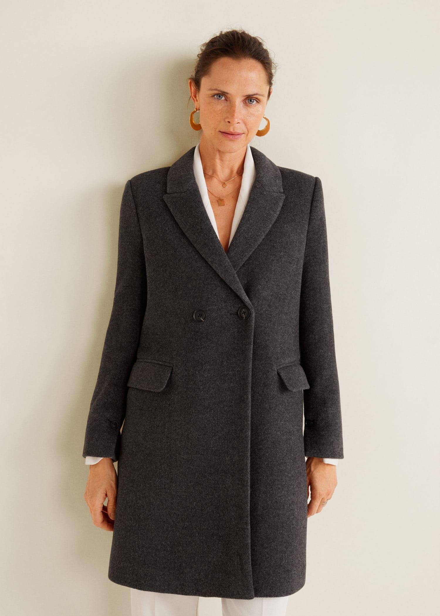 062f72b6 Masculine structured coat - Women   Mango USA