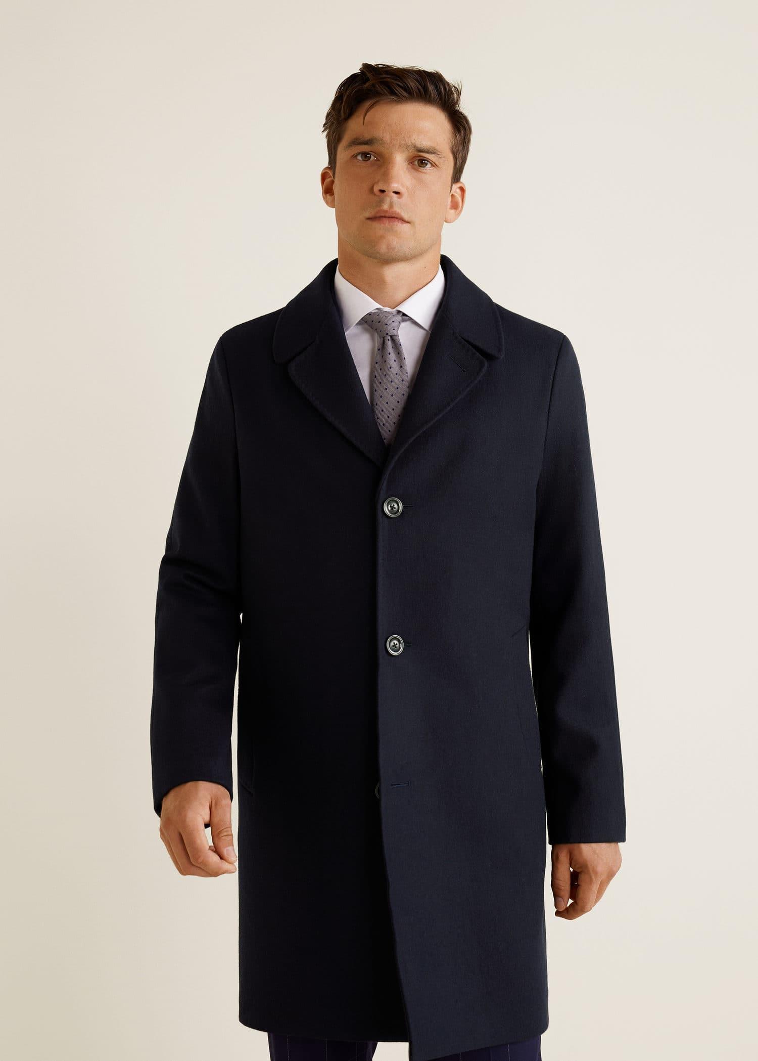 Manteau tailored laine Homme | MANGO Man Côte d'Ivoire