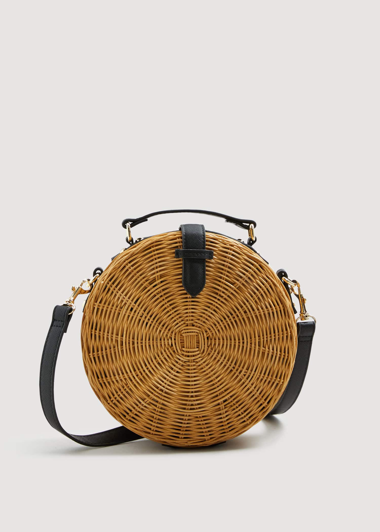 Bolso cofre bambú