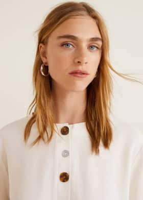 bf86d00c865850 Buttoned flowy blouse - Women | Mango United Kingdom