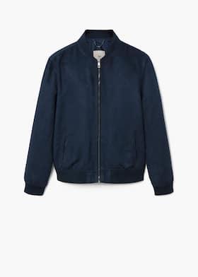 ecdada26d25b Faux suede bomber jacket