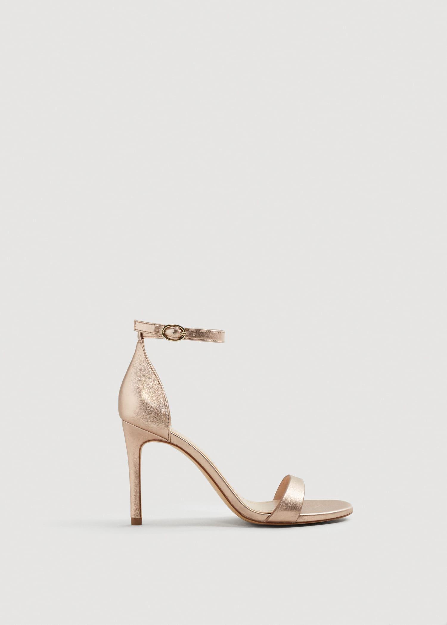Sandales métallisées à talon