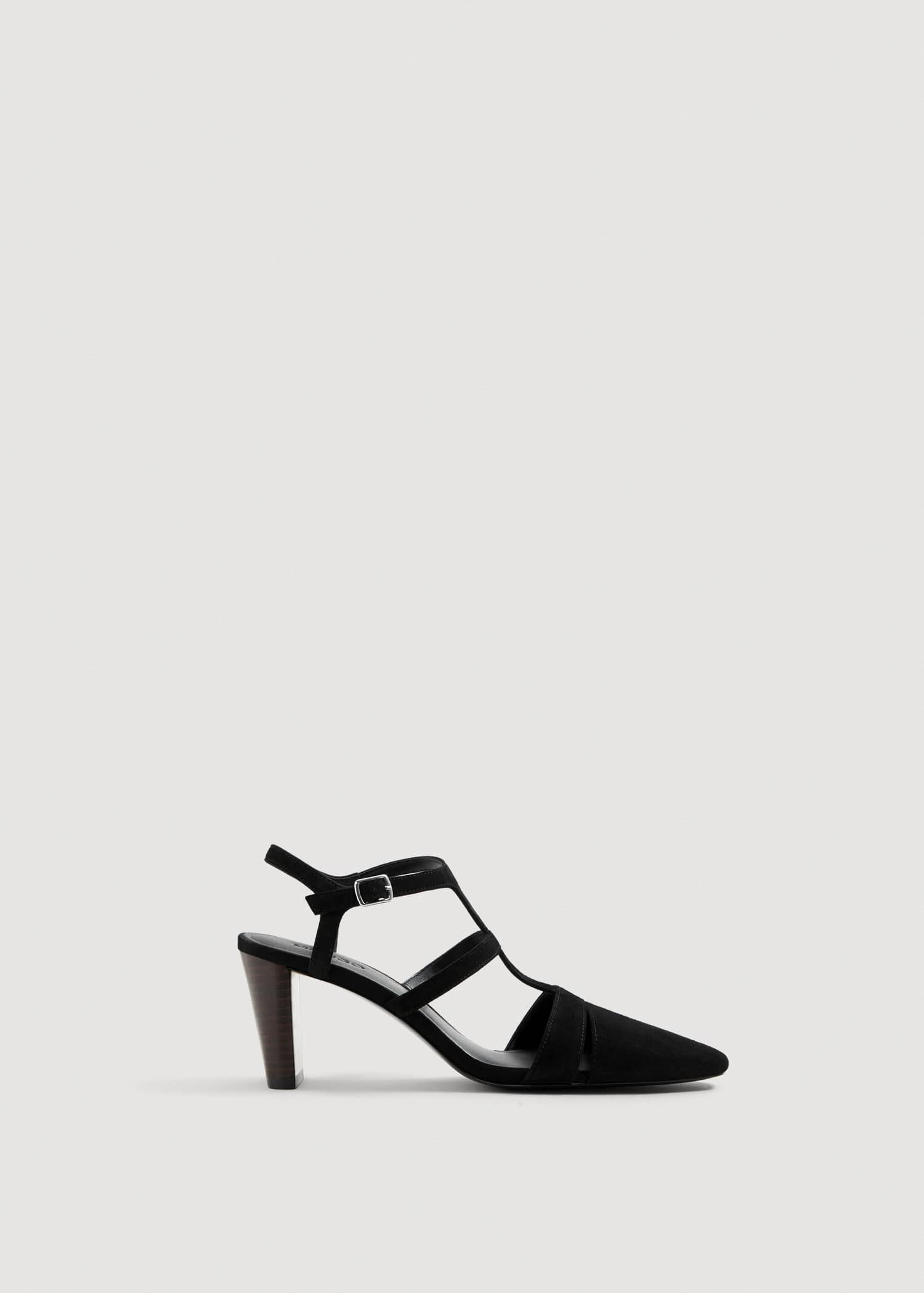 Strap leather shoes Women | Chunky heel shoes, Mango shoes