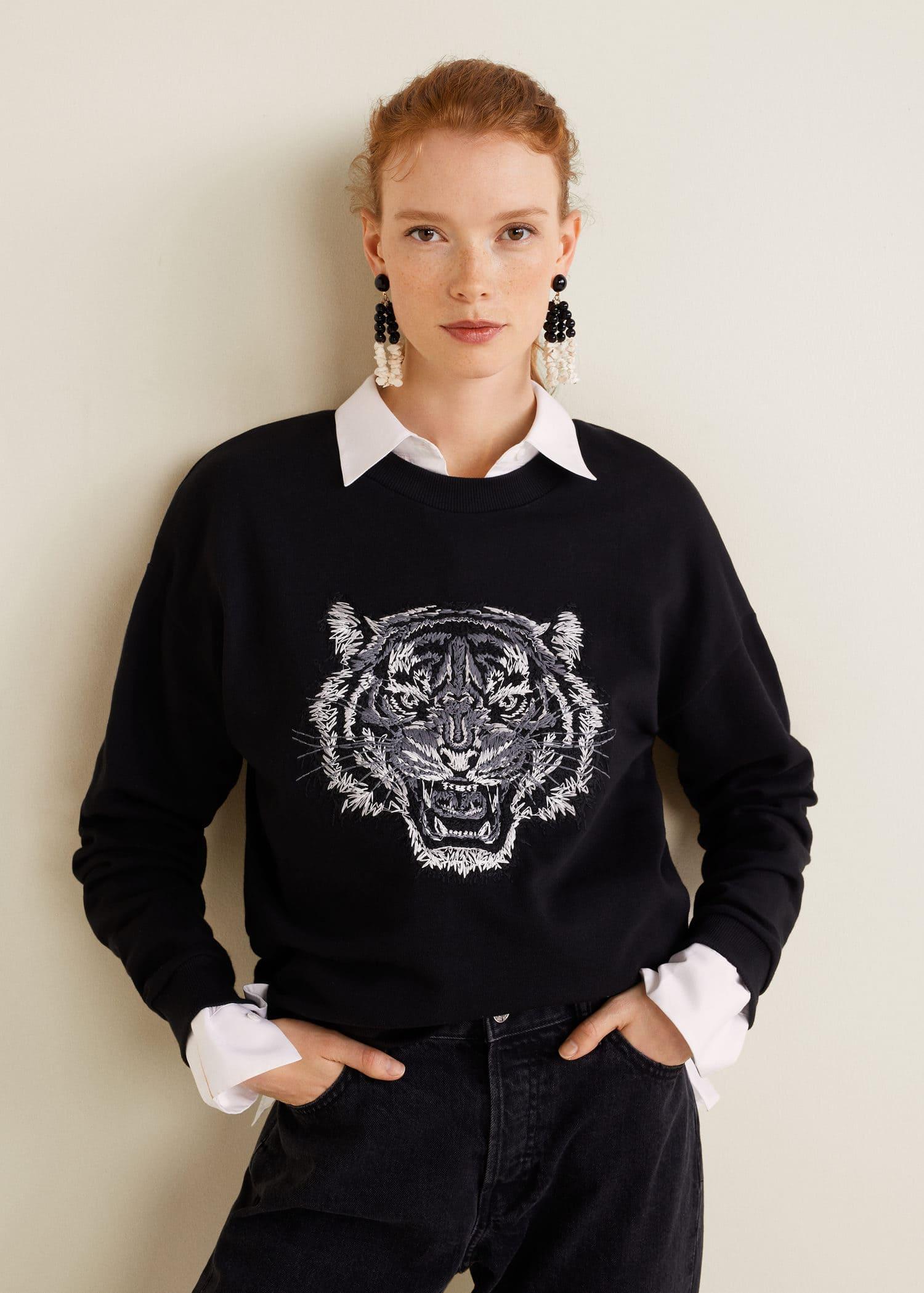 sweat shirt tigre femme