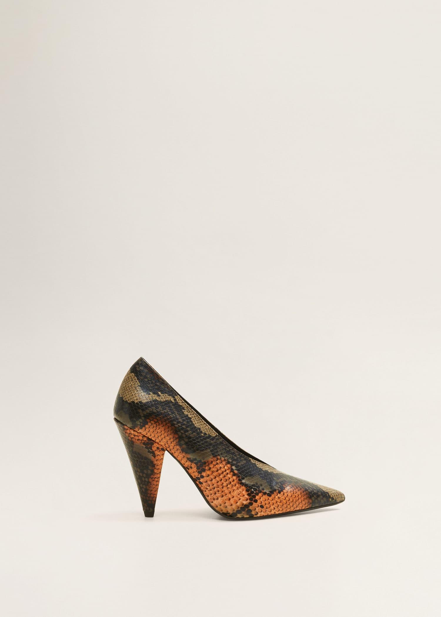 Tacón Serpiente MujerMango Efecto Zapato España v0N8nwm