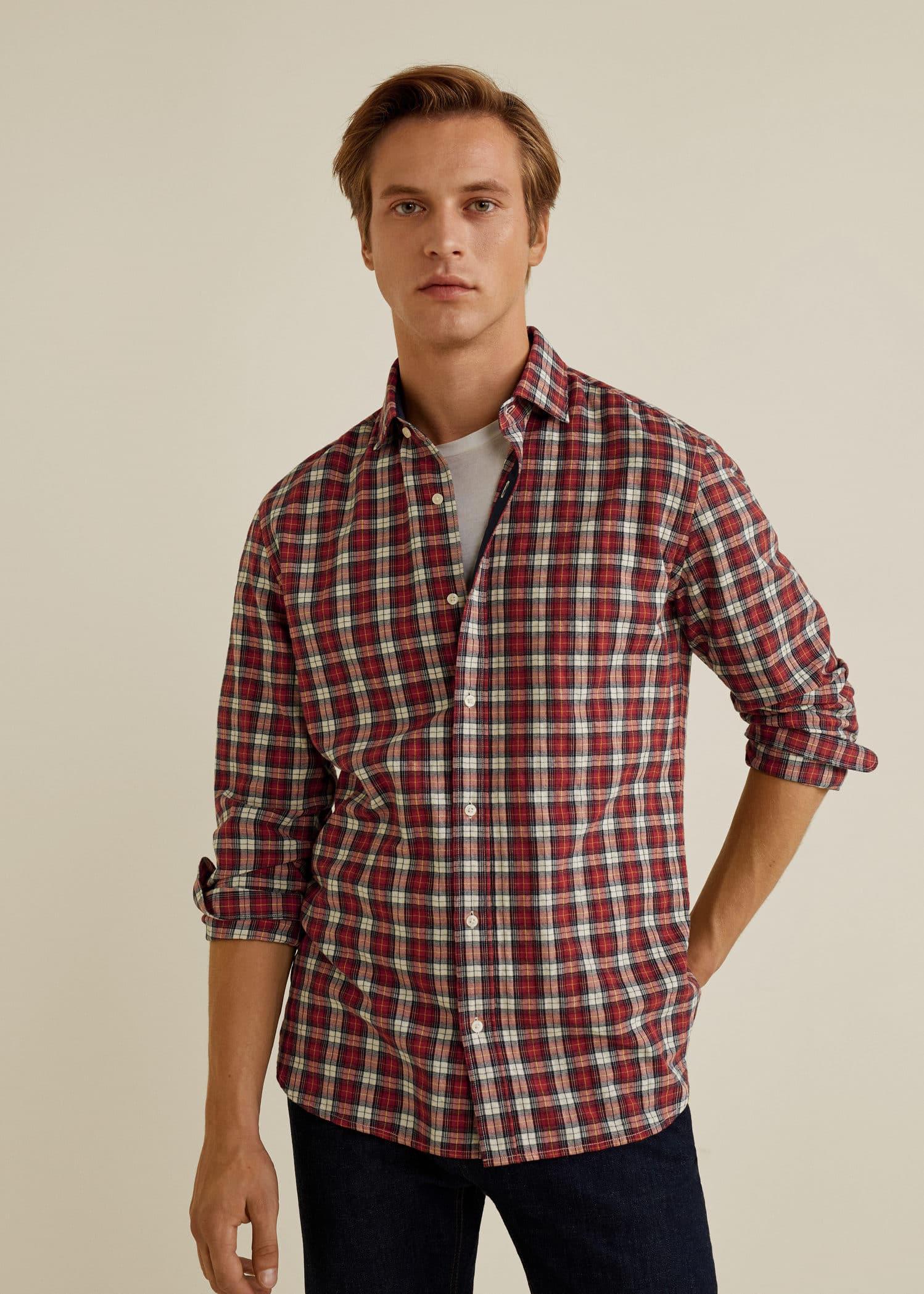 Chemises pour Homme 2019   MANGO Man France d2a42f288156