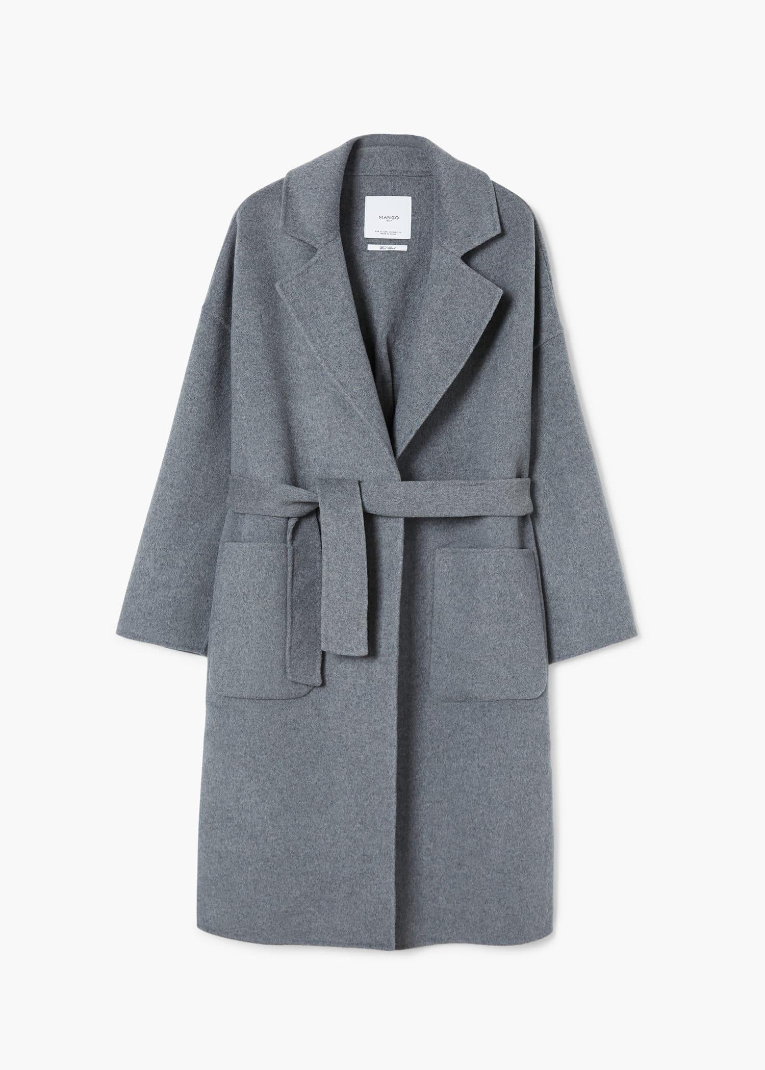 Manteau déstructuré en laine Femme | Mango France