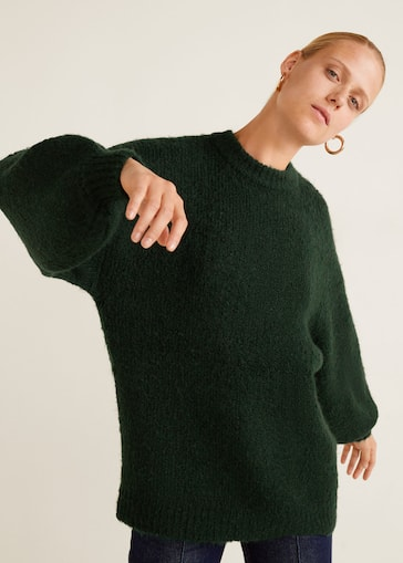 Lange Sweater Trui.Grofgebreide Lange Trui Dames Mango Nederland