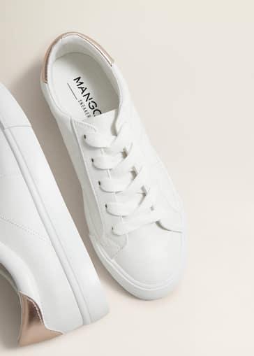sports shoes 8bfb3 98563 Contrast appliqué sneakers - Women   Mango USA