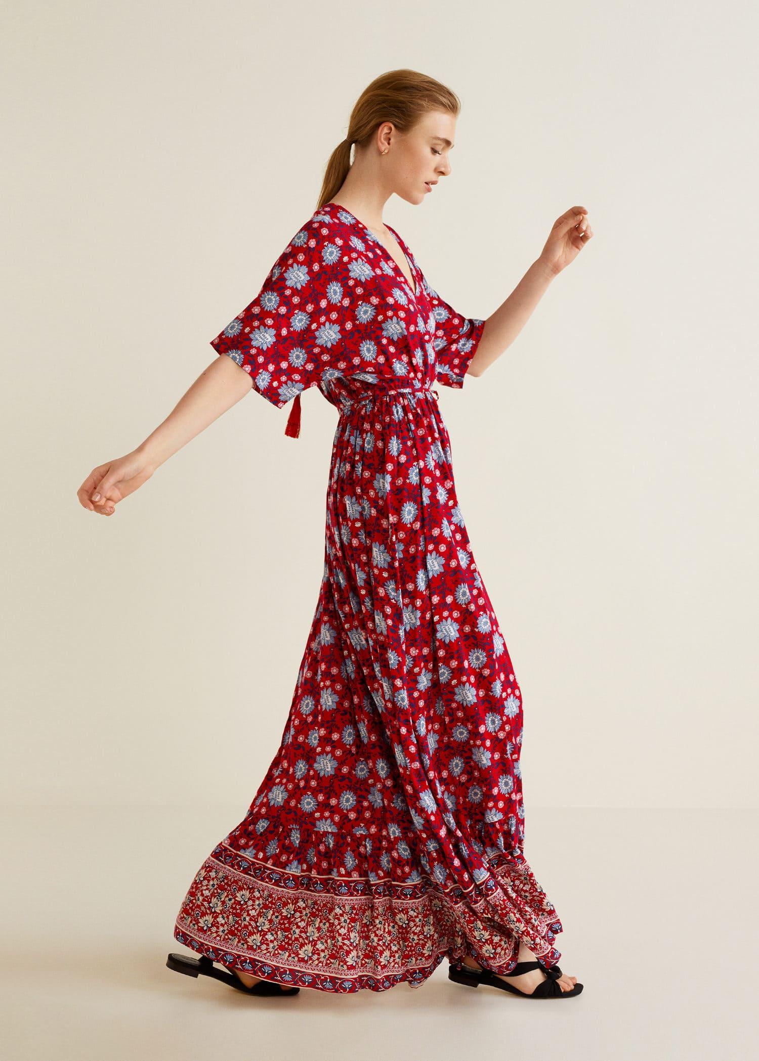 Dress Floral Print Long WomenMango Usa dxBrCeo