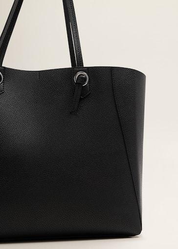 Sac shopper nœud - Femme   MANGO France 0d0e8dcd71ae