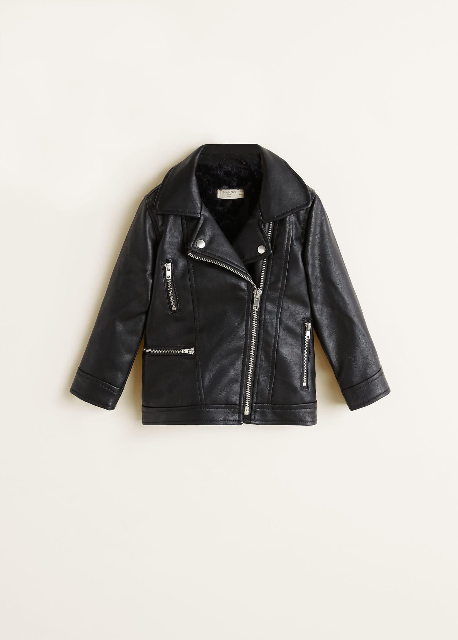 giacca biker pelliccia