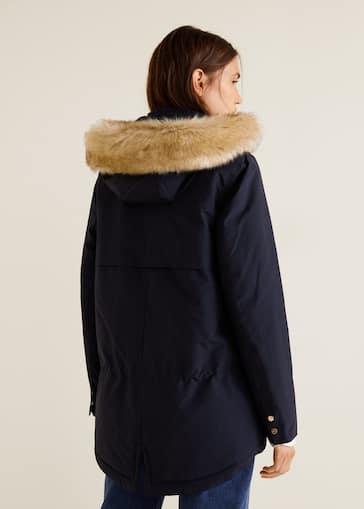 comprar baratas super especiales pensamientos sobre Parka capucha pelo - Mujer | Mango España