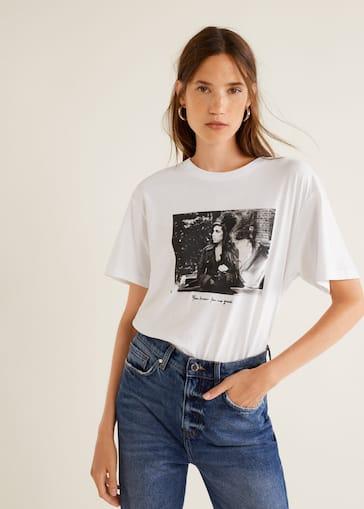 Camiseta amy winehouse - Mujer  5ef60fee981