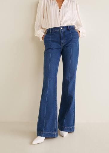 7da39d4be954 Decorative seam flared jeans - Women