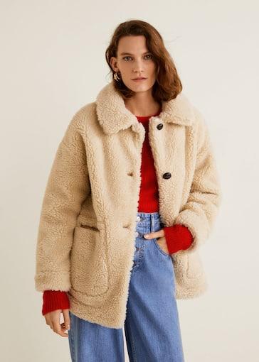 revendeur 17c1b 8e4c6 Manteau imitation mouton - Femme | Mango Sénégal