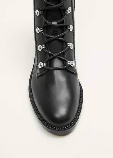 95f949f5308fd3 Lace-up leather boots - Women   Mango USA