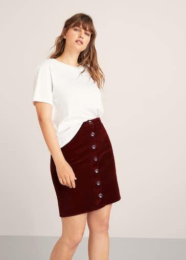 5e31e5118 Buttoned corduroy skirt
