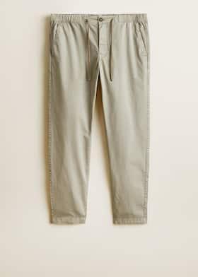 3a7197aa5d Pantalón recto algodón - Hombre