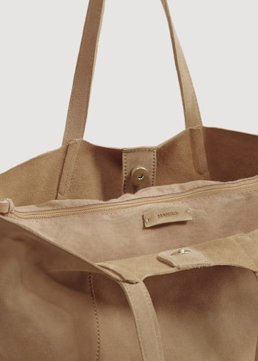 230957ede Suede shopper bag - Women | Mango USA