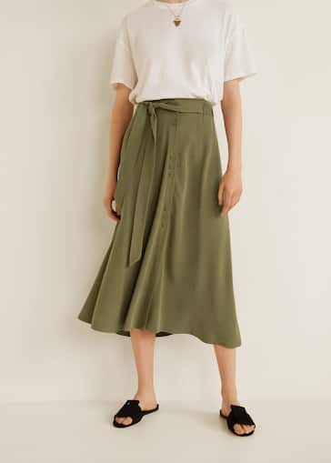445ea0810e Buttoned midi skirt - Women | Mango USA