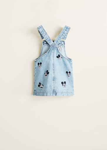 445d3aa6369c4 Robe chasuble denim mickey mouse - Fille | Mango Kids Monaco