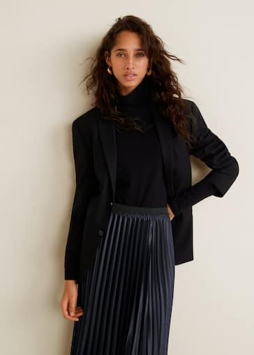352314be3f702 Jupe plissée métallisée - Femme   MANGO France